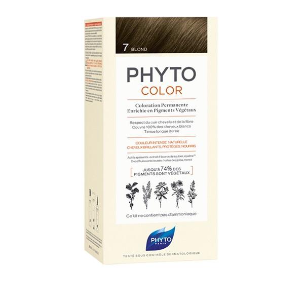 PHYTO PHYTOCOLOR 7 BIONDO 1 LATTE + 1 CREMA + 1 MASCHERA + 1 PAIO DI GUANTI - Farmastar.it