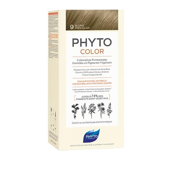 PHYTO PHYTOCOLOR 9 BIONDO CHIARISS 1 LATTE + 1 CREMA + 1 MASCHERA + 1 PAIO DI GUANTI - Farmastar.it
