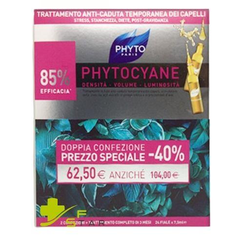 PHYTOCYANE FIALE ANTICADUTA DONNA 24FL x 7.5ML PROMO - Farmastar.it