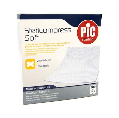 Pic Stericompress Soft Garza Compressa in Tessuto Non Tessuto 10 x 10cm 100 Pezzi - Arcafarma.it