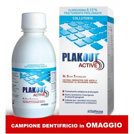 PLAK OUT ACTIVE 0,12% + DENTIFRICIO CM - Farmafamily.it