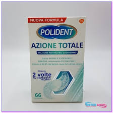 POLIDENT AZIONE TOTALE 66 COMPRESSE PULITORE PER PROTESI QUOTIDIANO - Farmajoy