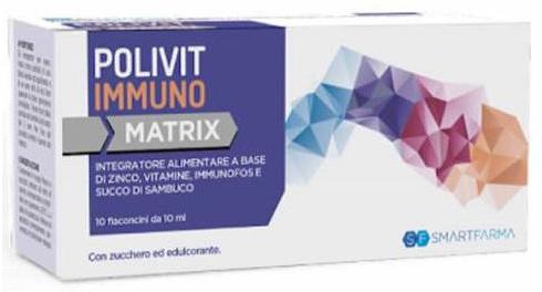 POLIVIT IMMUNO MATRIX 10 FLACONCINI DA 10 ML - Farmacia Centrale Dr. Monteleone Adriano