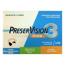 PRESERVISION 3 30 STICK OROSOLUBILI DA 2 G - Farmacia Giotti