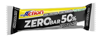 ProAction Zero Bar 50% Barretta 60gr Gusto Cioccolato - latuafarmaciaonline.it