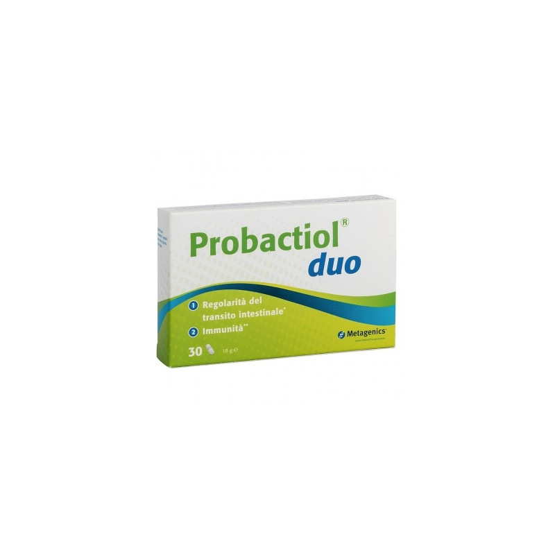 Probactiol Duo New Regolarità Intestinale Metagenics 30 Capsule - Farmastar.it