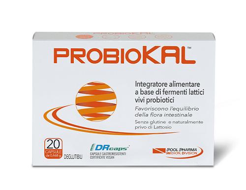 Probiokal Integratore Fermenti Lattici Intestino 20 Capsule - Farmastar.it
