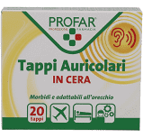 PROFAR TAPPI AURICOLARI 20 PEZZI CERA - FarmaHub.it