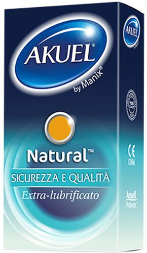 PROFILATTICO ANSELL AKUEL BY MANIX NATURAL B 6 PEZZI - Farmacia Centrale Dr. Monteleone Adriano