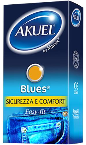 PROFILATTICO ANSELL BY MANIX BLUES B 6 PEZZI - Farmacia Centrale Dr. Monteleone Adriano