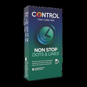 Profilattico Control Non Stop Dots & Lines 6 Pezzi - Arcafarma.it