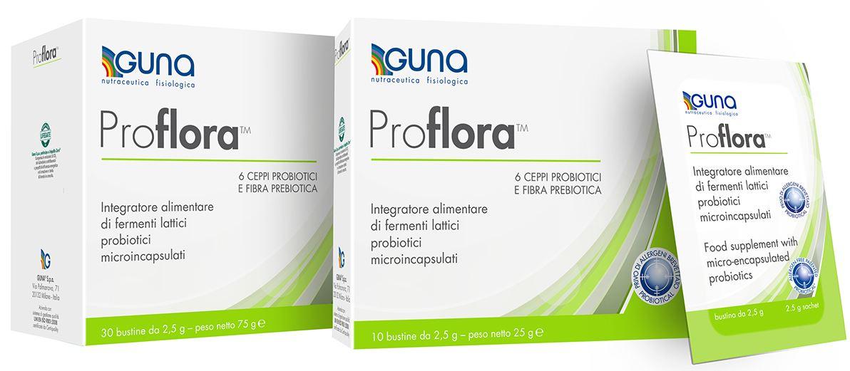 Guna Proflora Integratore Alimentare Probiotico 30 Bustine / Buste - Farmacia 33