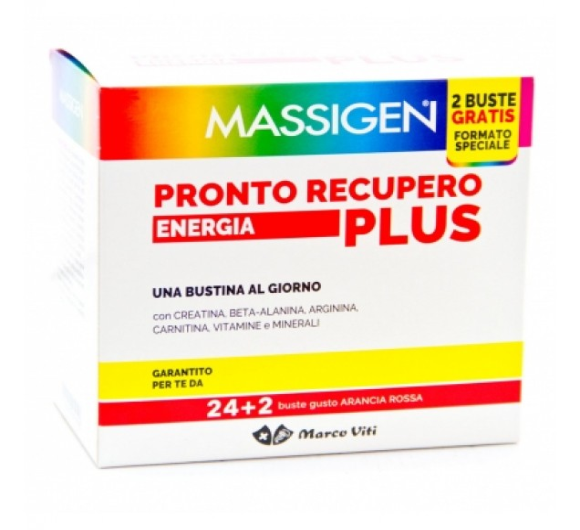 MASSIGEN PRONTO RECUPERO ENERGIA PLUS 24 BUSTINE + 2 BUSTINE - Farmafamily.it