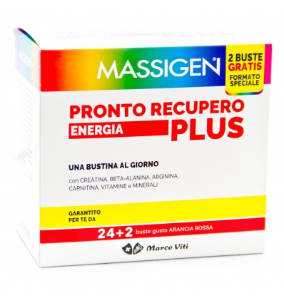 MASSIGEN PRONTO RECUPERO ENERGIA PLUS 24 BUSTINE + 2 BUSTINE - Farmafamily.it