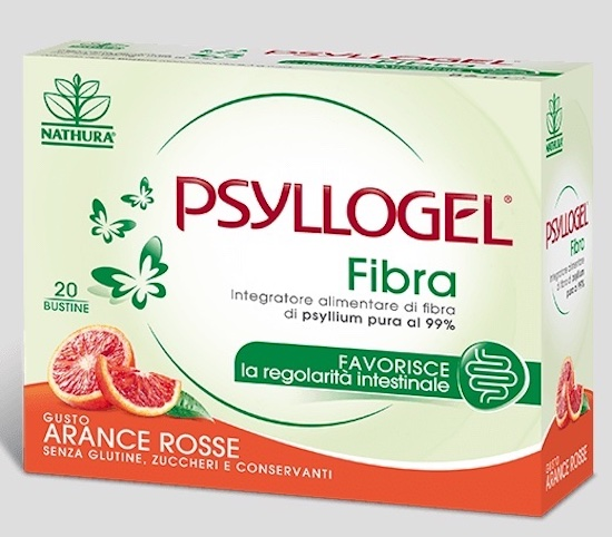 Psyllogel Fibra Arance Rosse 20 Bustine - Sempredisponibile.it