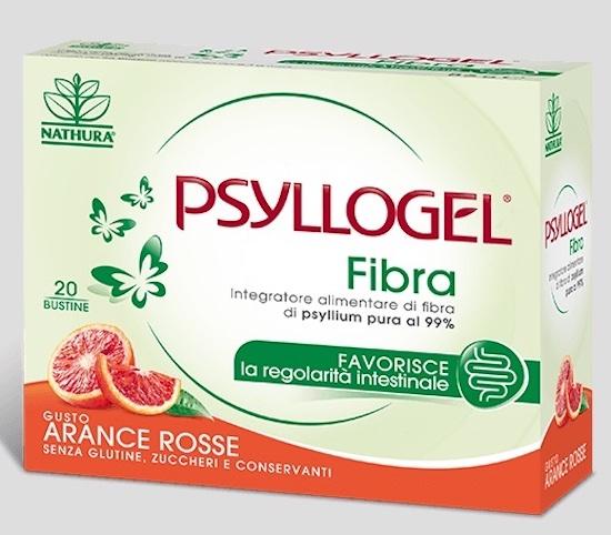 Psyllogel Fibra Arance Rosse 20 Bustine - Arcafarma.it
