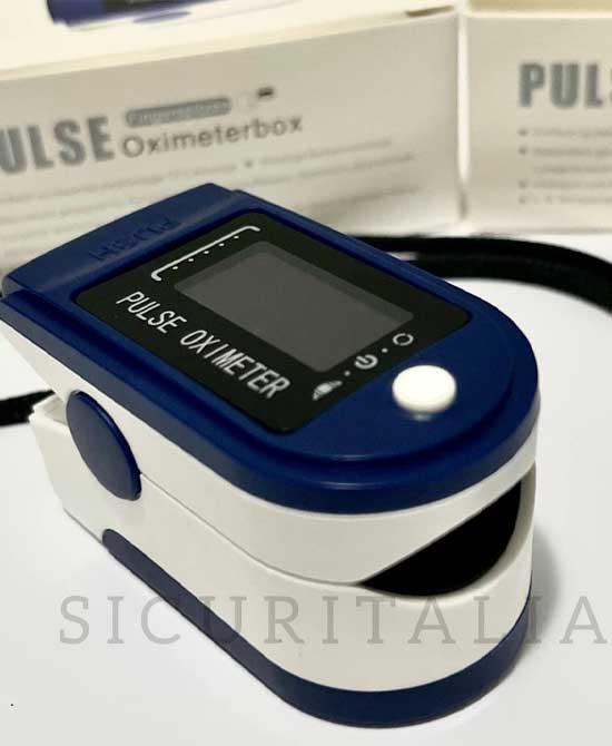 Pulsossimetro Pulse Oximeterbox Certificato CE - latuafarmaciaonline.it