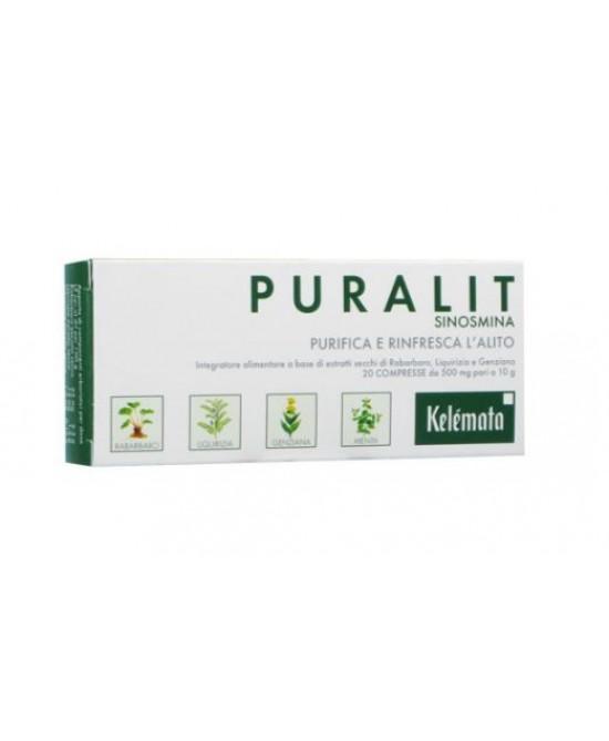 PURALIT DEODORANTE ALITO 20 COMPRESSE - Farmacia Bartoli