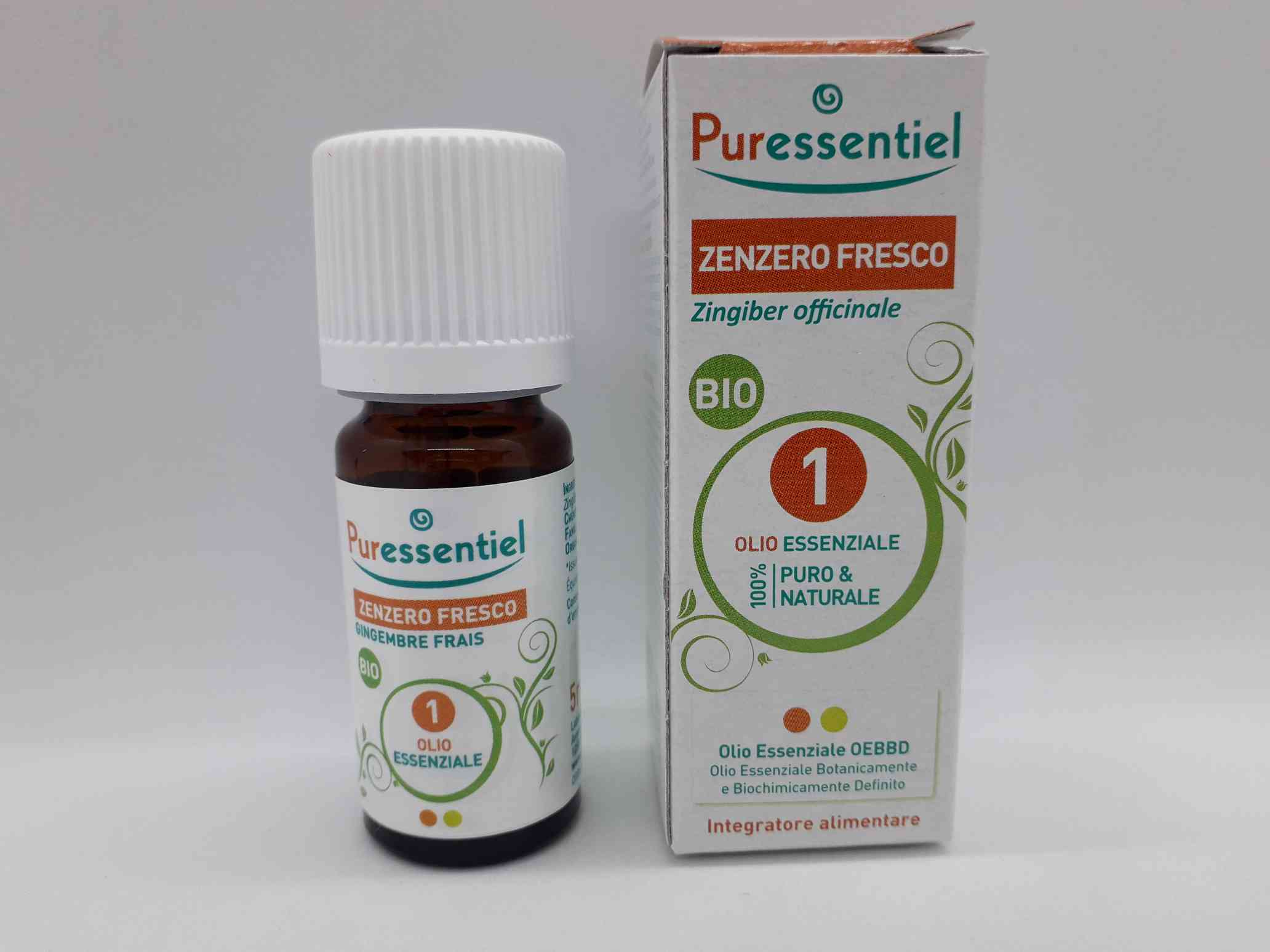 PURESSENTIEL OLIO ESSENZIALE ZENZERO FRESCO BIO 5 ML - Farmaciaempatica.it