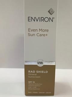 RAD SHIELD ENVIRON SPF15 MINERAL SUNSCREEN UVA + UVB + INFRAROSSI 125 ML - Farmacia Barni