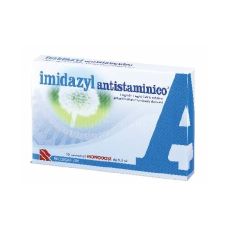 Recordati Imidazyl Antistaminico Collirio 10 Flaconcini Monodose Da 0,5ml - Farmapage.it