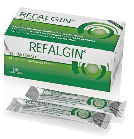 REFALGIN GEL OROSOLUBILE ANTIREFLUSSO 14 BUSTINE 15 ML - Farmacia Centrale Dr. Monteleone Adriano
