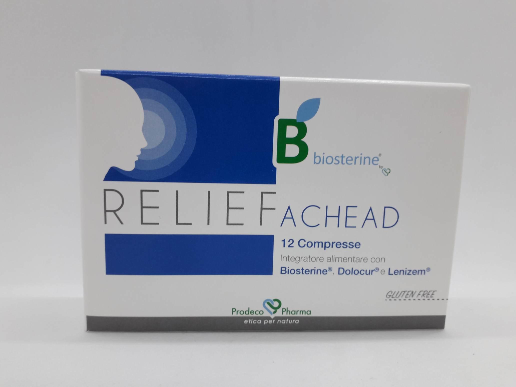 RELIEF BIOSTERINE ACHEAD 24 COMPRESSE - Farmaciaempatica.it