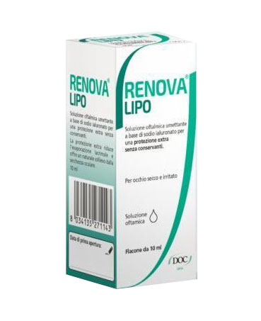 RENOVA COLLIRIO SOSTITUTO LACRIMALE A BASE DI ACIDO IALURONICO 0,4% E LIPIDI FLACONE DA 10 ML SENZA CONSERVANTI - Farmafirst.it