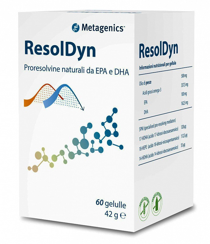RESOLDYN Integratore di acidi grassi omega 3 Metagenics 60 gellule - Farmastar.it