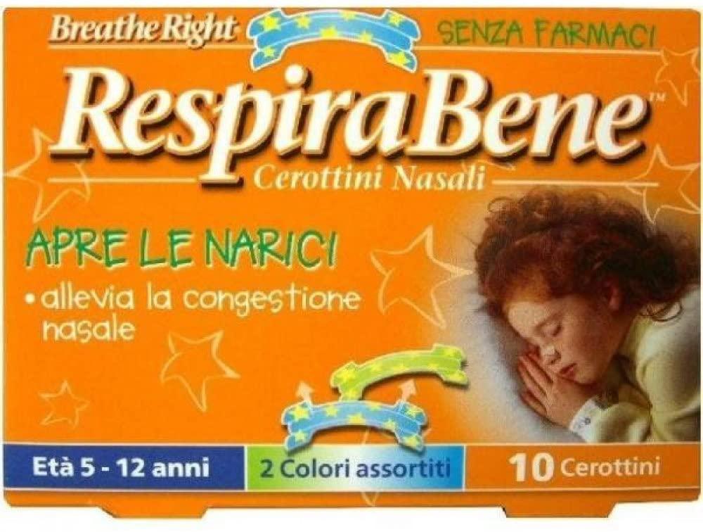 RespiraBene Cerottini Nasali per Bambini 10 Pezzi - Sempredisponibile.it