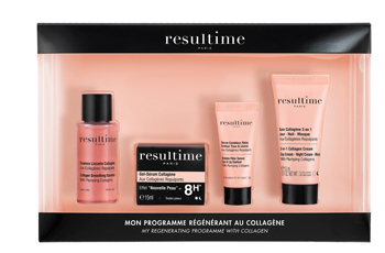 RESULTIME COLLAGENE KIT 2019 4 PEZZI CON ESSENCE LISSANTE COLLAGENE 20 ML + GEL-SERUM COLLAGENE 15 ML + SERUM-FILLER 3 ML + SOIN COLLAGENE 3 IN 1 15 ML - Farmastar.it