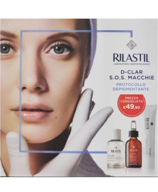 RILASTIL D CLAR COFANETTO 1 RILASTIL D CLAR MICROPEELING 30 ML + 1 RILASTIL D CLAR CREMA DEPIGMENTANTE 40 ML + 1 RILASTIL D CLAR GOCCE DEPIGMENTANTI 30 ML - Farmaci.me