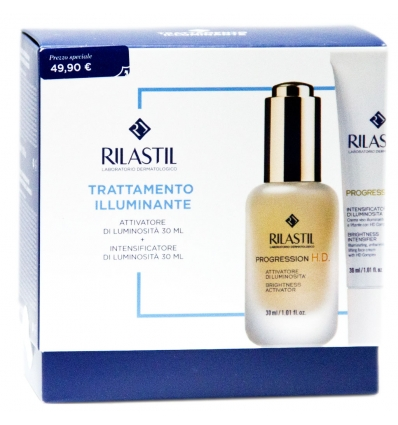 RILASTIL TRATTAMENTO ILLUMINANTE COFANETTO PROGRESSION HD GOCCE + CREMA - Farmaconvenienza.it