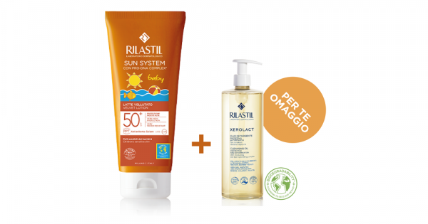 RILASTIL SUN PPT SPF 50+ BABY LATTE VELLUTO 200 ML - Farmacia Massaro