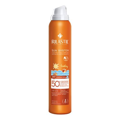 RILASTIL SUN SYSTEM BABY PPT SPF 50+ TRANSPARENT SPRAY WET SKIN 200 ML - FARMAPRIME