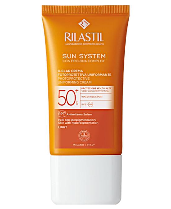 RILASTIL SUN SYSTEM D-CLAR SPF 50+ CREMA LIGHT 40 ML - Farmaci.me