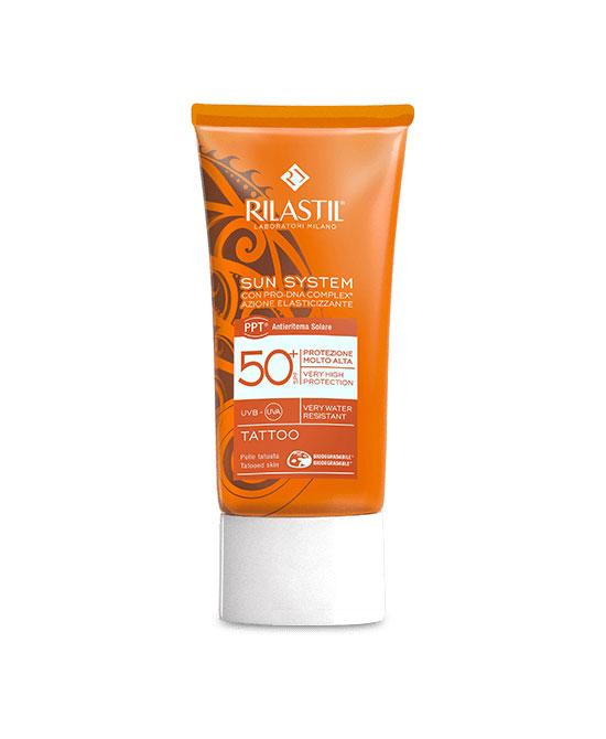 Rilastil Sun System Tattoo 50+ Protezione Solare per Pelle Tatuata 75 ml - latuafarmaciaonline.it