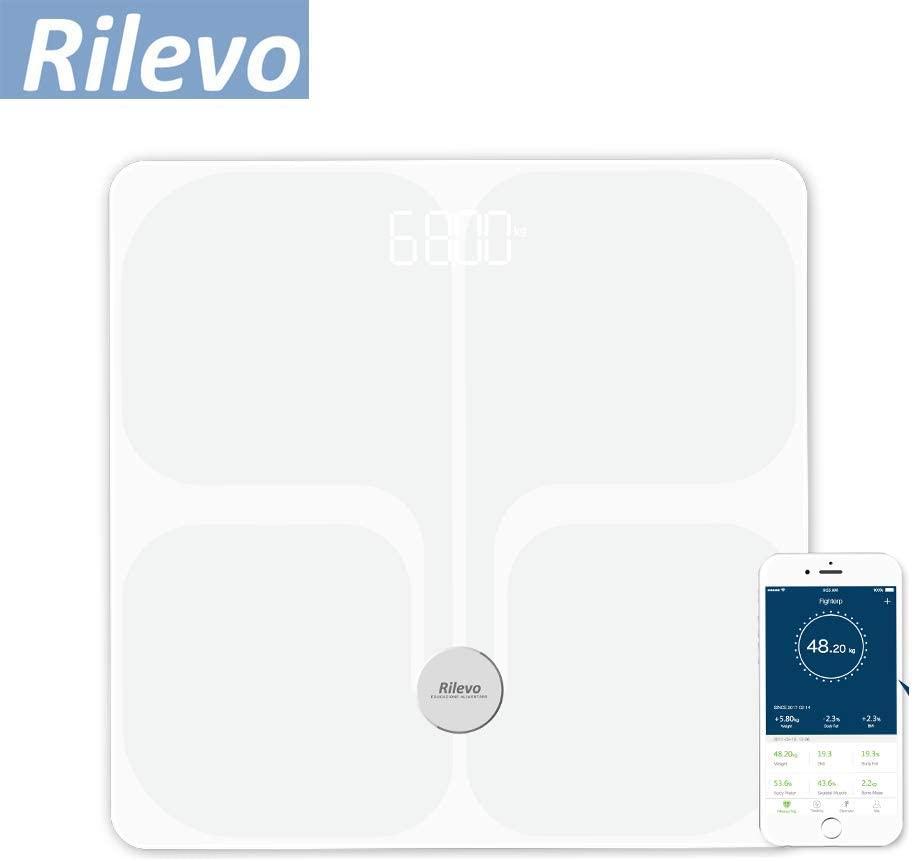 Rilevo Bilancia Digitale Pesapersone Intelligente con Funzione Cardio e Impedenziometro- Bluetooth-Wifi- con App Rilevo Fit - keintegratore.com