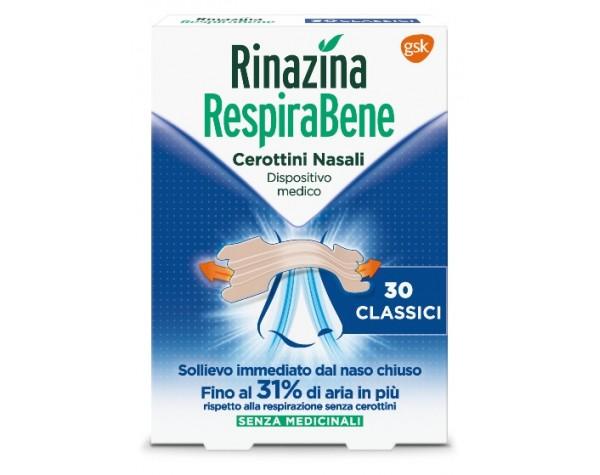 RINAZINA RESPIRABENE CEROTTI NASALI CLASSICI CARTON 30 PEZZI - latuafarmaciaonline.it
