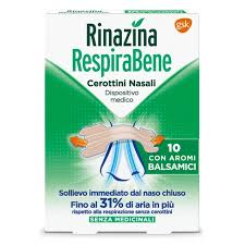 RINAZINA RESPIRABENE CEROTTI NASALI CON AROMI BALSAMICI 10 PEZZI - Farmawing