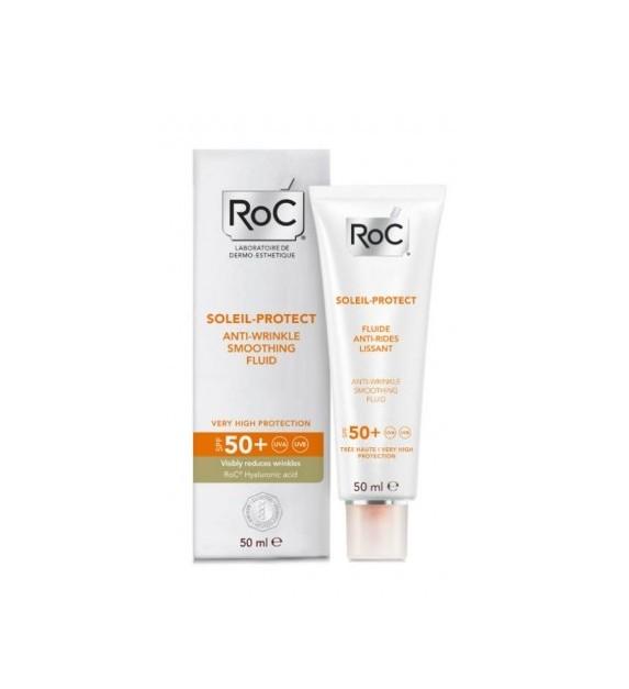 Roc Solari Crema Fluida Antirughe Levigante SPF50+  50ml  - pharmaluna