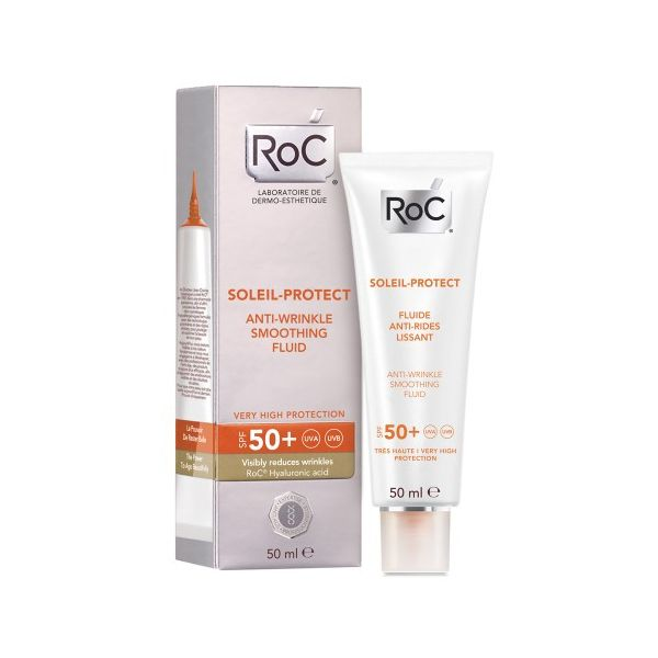 Roc Solari Crema Viso Fluida Antirughe SPF50  50ml  - Farmaconvenienza.it