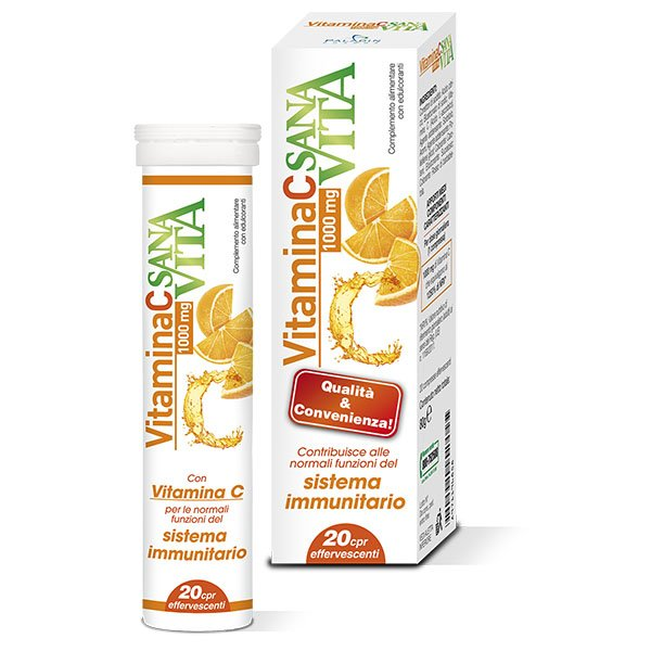 SANAVITA VITAMINA C 20 COMPRESSE EFFERVESCENTI - Farmaunclick.it