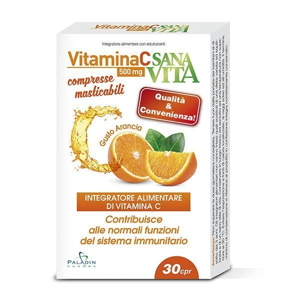SANAVITA VITAMINA C MASTICABILE 30 COMPRESSE - Farmacia Massaro