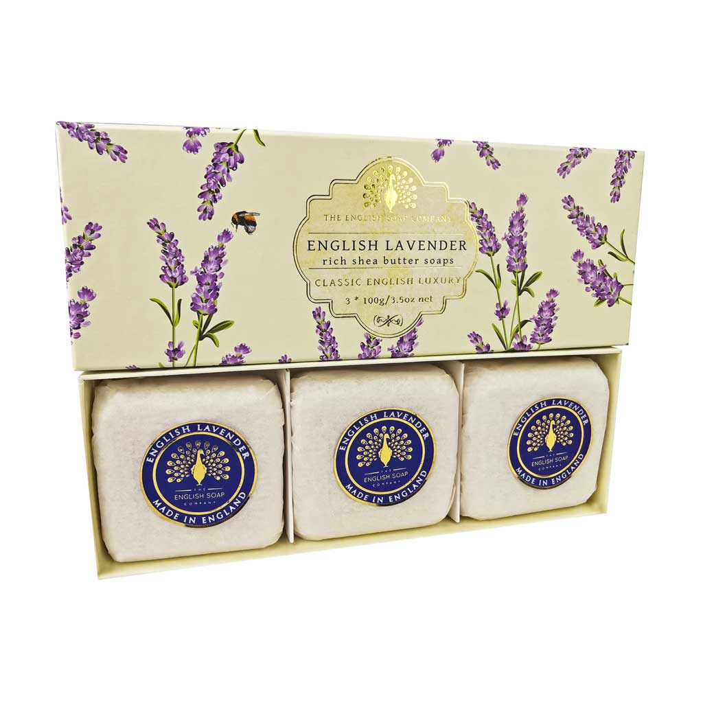 SAPONE GIFT BOX ENGLISH LAVENDER 3 PEZZI DA 100 G - Farmapage.it