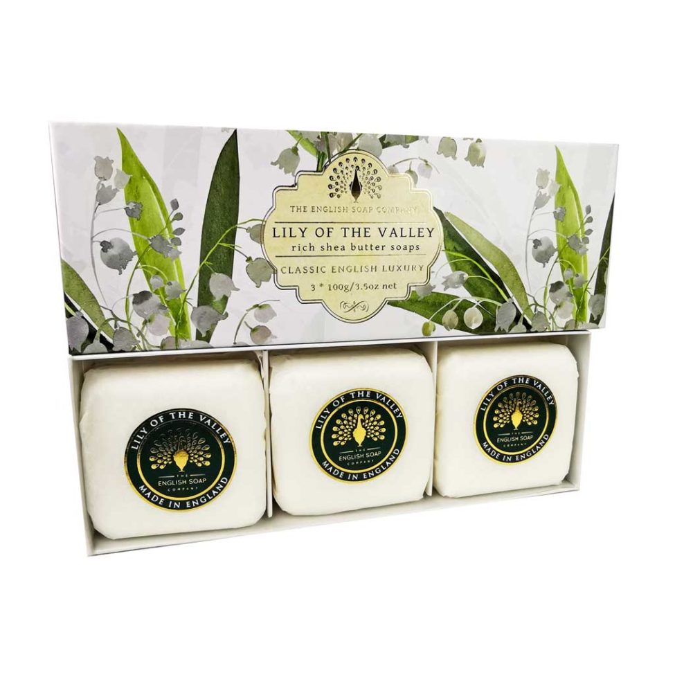 SAPONE GIFT BOX LILY OF THE VALLEY 3 PEZZI DA 100 G - Farmapage.it