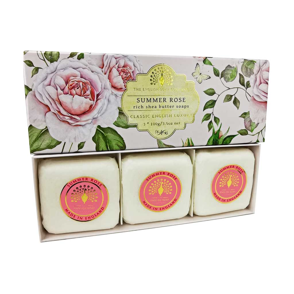 SAPONE GIFT BOX SUMMER ROSE 3 PEZZI DA 100 G - Farmapage.it