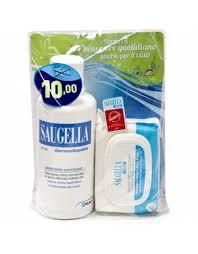 SAUGELLA BANDED CON SAUGELLA DERMOLIQUIDO INTIMO FLACONE 500 ML + SAUGELLA VISO SALVIETTE STRUCCANTI - Farmastop