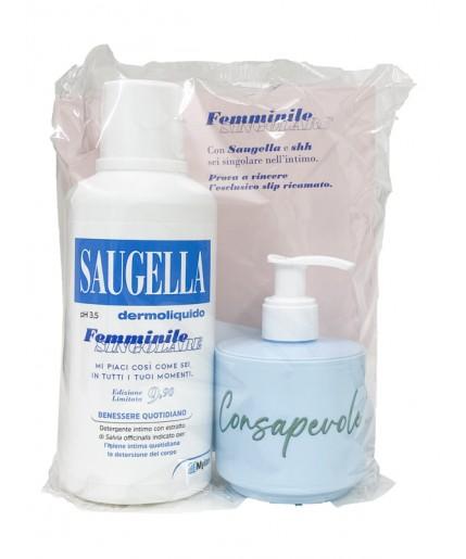 SAUGELLA FEMMINILE SINGOLARE PROMO 1 SAUGELLA DERMOLIQUIDO 500 ML + 1 SAUGELLA DERMOLIQUIDO 150 ML - farmasorriso.com