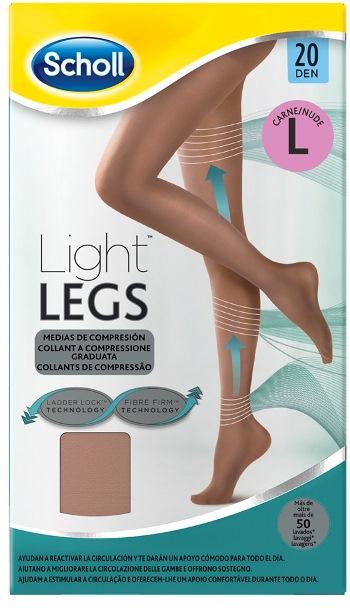Scholl Lightlegs 20 Denari Taglia L Colore Nude 1 Paio - Farmalilla